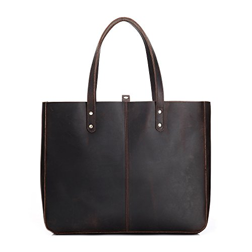 Meoaeo In Pelle Borsa Donna Borsa Tracolla In Pelle Nuovo Singolo Lady Marrone Scuro Dark brown