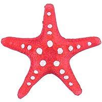SMARTrich Suministros para acuario en miniatura de resina, diseño de estrella de mar, resina, Rojo, 9x8x2cm