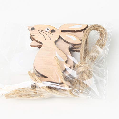 Mmnas - 8 decorazioni pasquali in legno a forma di coniglio, decorazioni per scrapbooking