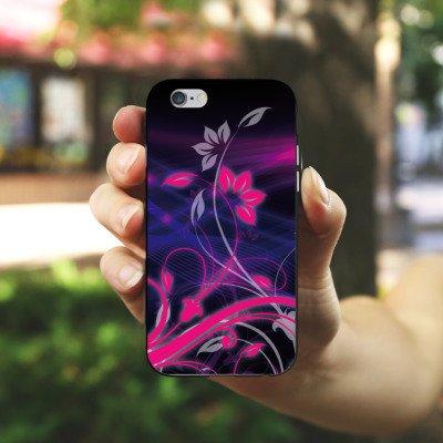 Apple iPhone X Silikon Hülle Case Schutzhülle Blumen Ornamente Floral Silikon Case schwarz / weiß