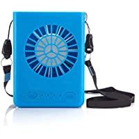 Mankoo Ventilador usko Mini Ventilador portátil Collar Multifuncional con 3 velocidades para Escalada Correr Camping Senderismo Deporte Aprendizaje Oficina