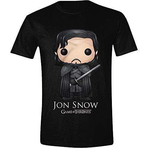 Juego de Tronos - Nieve de Jon Pop Art - Camiseta Oficial Hombre - Neg
