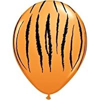 Single Source Party Supplies - 11 Tiger Stripes Latex Balloons Bag of 10 by Single Source Party