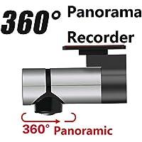 AMYMGLL Nuevo grabador de coche Lente única Grabador panorámico de 360 ??grados Visión nocturna de HD ocultada Monitoreo de vigilancia Sensor de gravedad ...