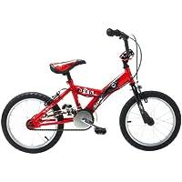 "Sonic Boom Boys' Kids Bike Red, 10"" inch steel frame, 1 speed adjustable easy-reach levers fully adjustable stem"