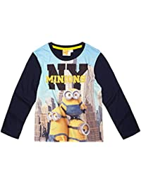 Minions Despicable Me Chicos Camiseta mangas largas 2016 Collection - Azul marino