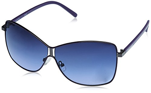FASTRACK GIRLS METAL 100% UV PROTECTED BLUE SUNGLASSES-C058BU2F image