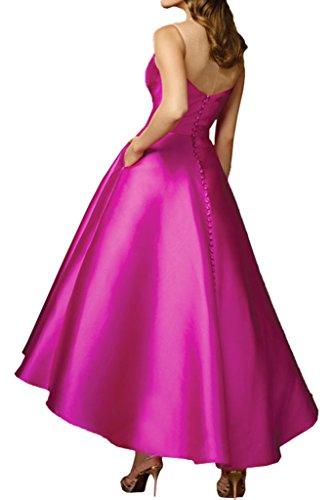 Promgirl House Damen Modisch Prinzessin A-Linie Abendkleider Ballkleider Cocktailkleider Wadenlang Dunkellila