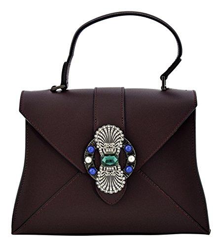 Boteghe - Real Made in Italy ALINA Sacs portés Main Sacs portés Épaule Femme Vrai Cuir Fabriqué en Italie