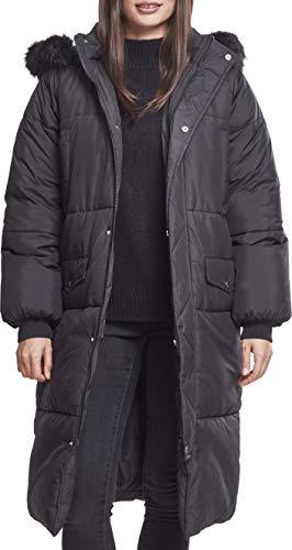 Urban Classics Damen Jacke Ladies Oversize Faux Fur Puffer Coat, Schwarz blk 00017, XX-Large