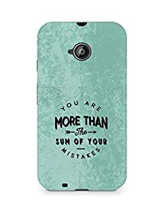 AMEZ you are more than the sum of your mistakes Back Cover For Motorola Moto E2