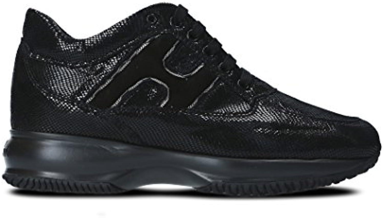 Hogan Mujer HXW00N0Z160H1SB999 Negro Cuero Zapatillas  Venta de calzado deportivo de moda en línea