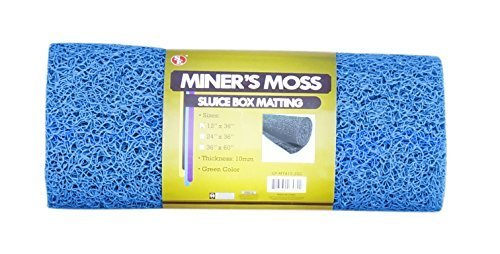 "SE GP-MT415-3BL 12"" x 36"" Miner's Moss (Sluice Box Matting) in Blue by Sona Enterprises"