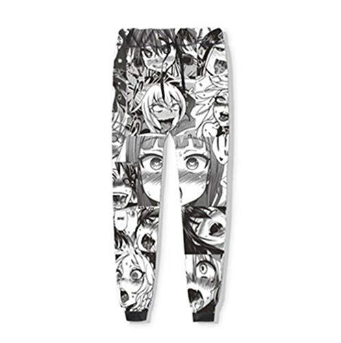 Thingsom Ahegao Pantalones Hombre Mujer Anime Pants 3D...