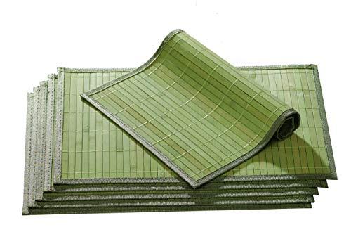 Ritzenhoff & Breker Platzmatten-Set Bamboo, 6-teilig, 30x45 cm, Grün - Grüner Bambus