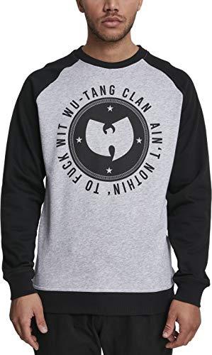 Wu Wear Herren Ain't Nothin' Crewneck Sweatshirt, h.Grey/Blk, M City Crewneck Sweatshirts