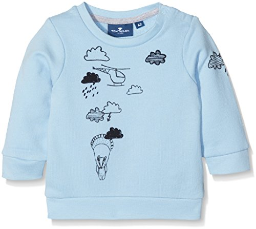 TOM TAILOR Kids Baby-Jungen Cute Helicopter Sweatshirt, Blau (Washed Out Middle Blue 6837), 74