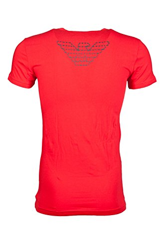 Emporio Armani Intimates Herren T-Shirt Eagle Stretch T-Shirt Rot