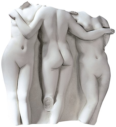 Design Toscano OS69359 Fragment mural design Les trois grâce grand Blanc Cassé 11,5 x 73,5 x 78,5 cm