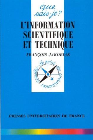 L'information scientifique et technique