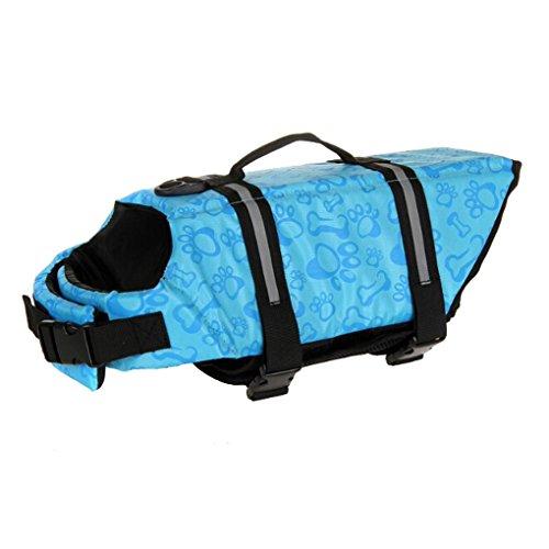 meiying Dog Life Jacket Fit verstellbare Hunde Schwimmwesten 3Farben (Dog Life Jacket Extra Klein)