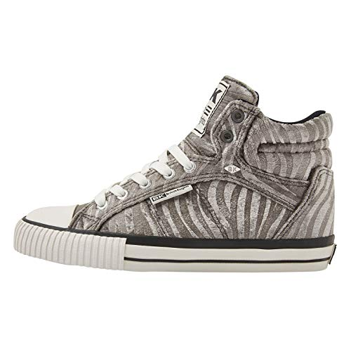 British Knights ROCO Damen HIGH-TOP-Schuh Sneaker, EU 40 (UK6.5), schwarz / Blume