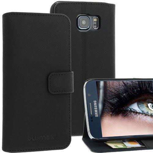 Blumax Ledertasche für Samsung S5 in Braun Schwarz
