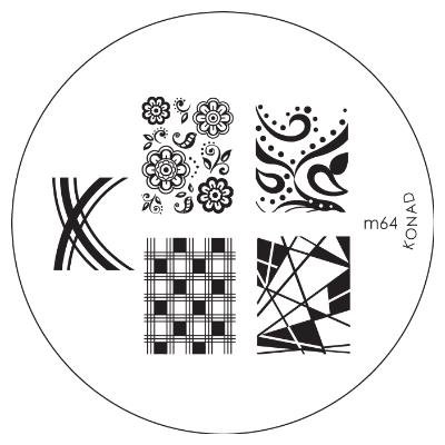 Konad Image Plate Nail Art - M64