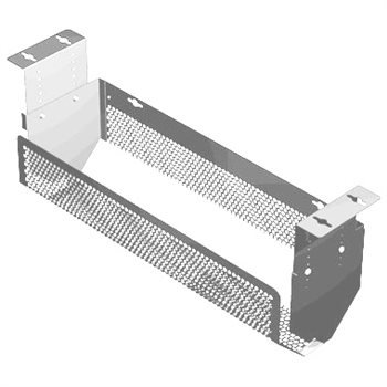 PENN ELCOM Ajustable Bandeja de Cable Plata cms-03S