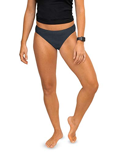 Denim Heather (WoolX Damen Bikini Roxie Leichte Merinowolle Unterwäsche, Damen, Roxy, Denim Heather, XX-Large)