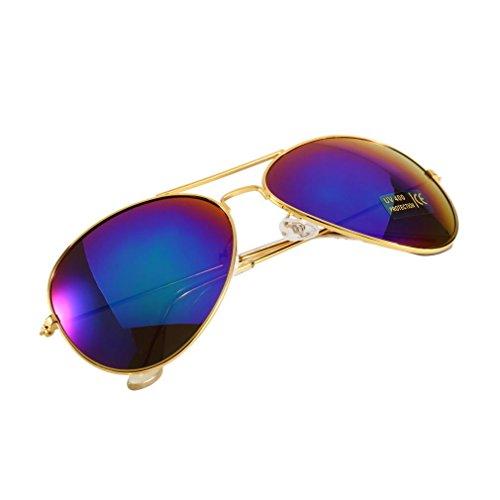 Oro Telaio Lenti + Verde Quicksilver Unisex New Classic argento lenti a specchio marrone oro nero occhiali da sole F5