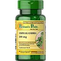 Ashwagandha 300 mg 50 Tabletas - Ginseng Indio. Puritan's Pride 1 und.