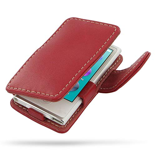 PDair iPod Nano 8 / Nano 7 Flip Lederhülle für Frauen (Rot), Leder Folio Magnetisch Handytasche Stil Schlank Hülle | Leder-Buch-Kasten für iPod Nano 8th / iPod Nano 7th Generation