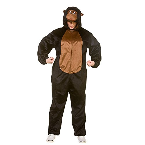 (Deluxe Costume Adult Animal GORILLA For Fancy Dress Party)