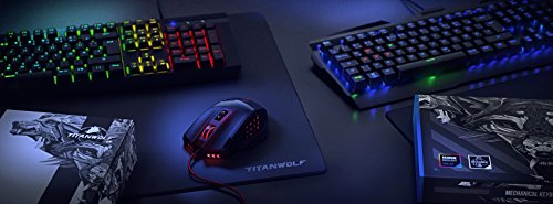 Ansicht vergrößern: Titanwolf - mechanische Tastatur Invader | Mechanical Keyboard Gaming | Anti-Ghosting | QWERTZ-Layout | RGB Hintergrundbeleuchtung / 19 Lichtmodi/Benutzerdefinierter Beleuchtungsmodus