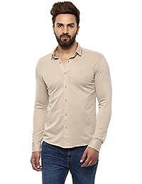 Mufti Button Down Plain Full Sleeves Shirt