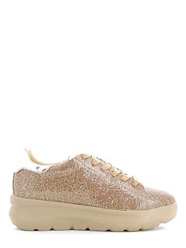 Fornarina PIFVH9545WIA9000 Sneakers Femme Cuir Synthetique Gris gold