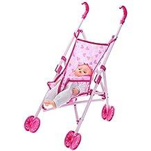 Amazingdeal365 Cochecito Carrito Infantil Carro de Muñecas Barbies para Bebé Niñas