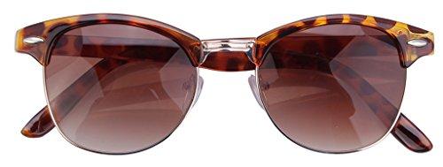 V-SOL Sunglasses Gafas De Sol Para Mujer Hombre - Plástico (Marrón)