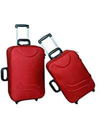 "UNIVERSAL TRAVELLER BAG-LOYAL SET OF 2 BAGS(RED) 24""+20"""