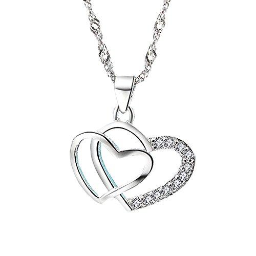 Halsketten Für Frauen 925 Sterling Silber Zirkonia 45cm In der box sind Rosen