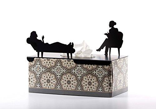 Artori Design ad193–en su tratamiento–Tapa decorativa de metal para rectangular caja de pañuelos