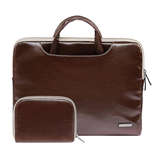 Baymate Laptop Aktentasche Laptoptasche 11.6 -15.6 Zoll Notebooktasche Schutzhülle Hülle Case mit Griff Stil2 15.6 Zoll (39*27.5*3cm)