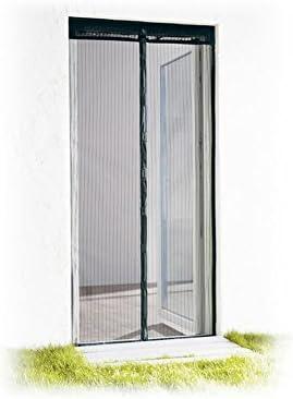 Magnético puerta cortina para puerta mosquitera 100x 220Set (2x Mosquitera 50x 220) + adhesivas Pegatinas color a elegir.