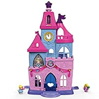 Fisher-Price Little People Disney Princess Magical Wand Palace, Toddler Activity Toy with Figures, Lights, Music, Sound and Phrases, 18 Months Plus