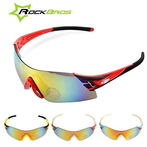 Bazaar RockBros polarisierte UV400 Fahrrad einen.Kreislauf.durchmachenfahrrad Sonnenbrille Gläser