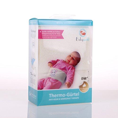 Babywohl Anti Kolik Gürtel Thermo-Gürtel Kolik Wärmflasche Wadenwickel Bauchschmerzen