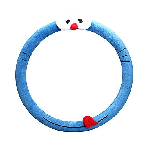 SWCAAE Coprivolantecartone animato plussureggiante coprivolante riscaldato universale animale carinopelliccia auto volante coprisedili per auto, SWC029 Doraemo