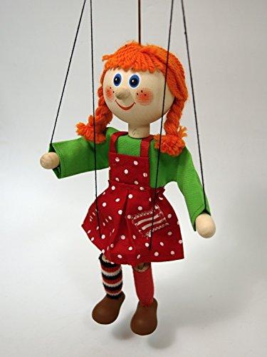 MUBRNO 18104A Mädchen zopfige Marionette, Mehrfarbig, 20 cm