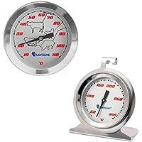 Set termometro con foratura/carne termometro l'affumicatoio/back l'affumicatoio Thermo metri. Analog/lama